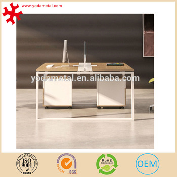 Computer Desk Pine Wood Pc Laptop Table Workstation Study Home Office Furniture 2 Person Modern Open E
