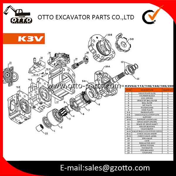 Kawasaki K3v112dt Hydraulic Pump Use For Ec210 R215-9 Sk200-8 - Buy  Kawasaki K3v112dt Hydraulic Pump,Kawasaki Hydraulic Pump,K3v112dt Product  on