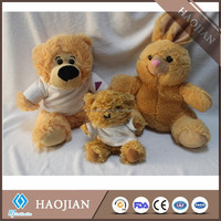 plush teddy bear/rabbit with printable T-shirt