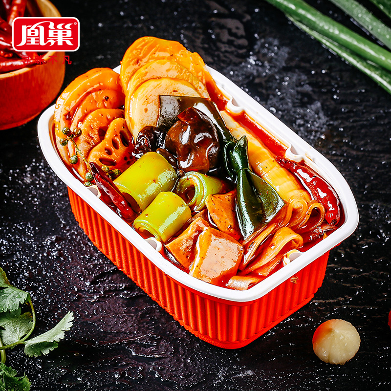 Wholesales Small Self Heating Hot Pot 320/Box Chongqing Hot Pot Self Heating Convenient Instant Hot Pot