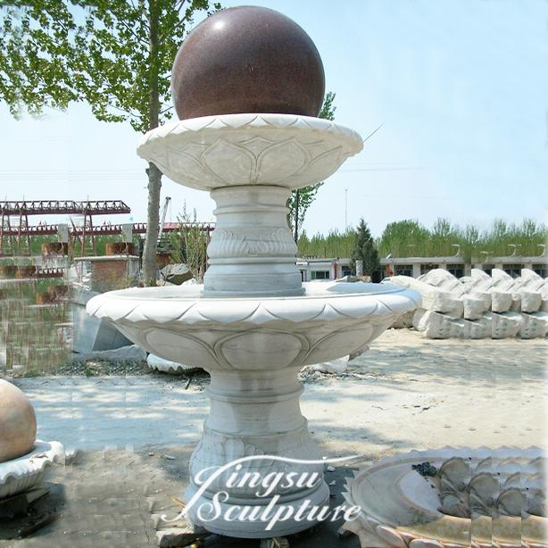 Popular design rotating granite ball fountain