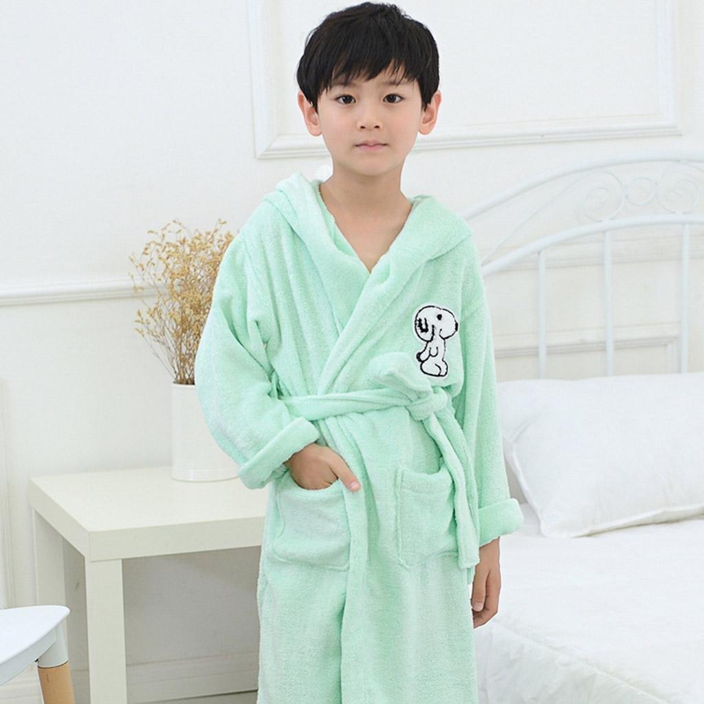 b951c735c0 Get Quotations · DJBamboo fiber bathrobes for children fall thicken baby  Pajamas cartoon hooded bathrobes men and women robe