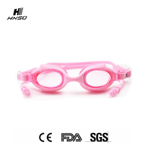 High quality anti-fog soft silicone frame cartoon swim goggles for kids