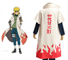 MOON BUNNY Hot Anime Naruto Cosplay Costumes Fourth Hokage Namikaze Minato Cape Outfit Cosplay Cloak Wholesale MOQ 1 set