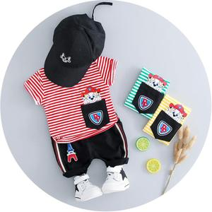 S10689B Wholesale Thin Cool casual baby boutique clothing sets kids