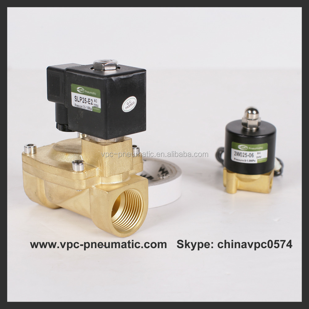2 Way Direct Acting Normally Closed Small Orifice Brass Solenoid Valve