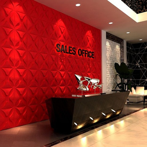 2018 new design paintale easy diy 3d wall panel/price 3d wall board for office