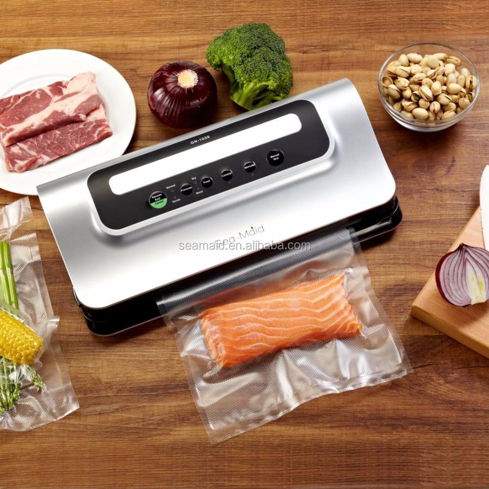 Sea-maid Amazon multi-function food vacuum sealer packing machine with bag roll