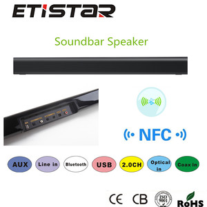 High quality soundbar speaker with USB AUX optica coax DSP function used home theater
