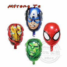 Inflatable classic toys Cartoon Superhero Spiderman head Foil Balloons for Birthday decorations kids Party Supplies