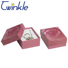 Custom made rigid cardboard luxury jewelry gift box for sale with strong quality
