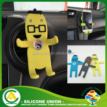 Cute Flexible Man Shape Universal Silicone Car Cell Phone Holder