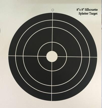 8-Inch Splatter Shooting Paper Targets target sticker or custom