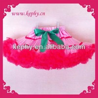 pink with red flufly pettiskirt for newborn kids and toddler baby and adult bubble skirt