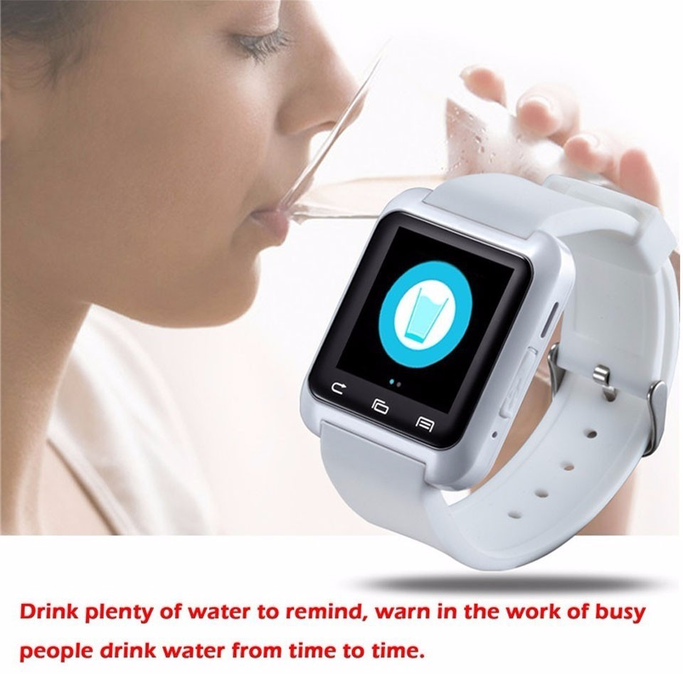 waterproof U80 Sedentary reminder intelligent watch wearable IOS android smartwatch for samsung for xiaomi for iphone6