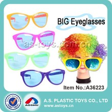 Hot sale party kids plastic big funny eye glasses