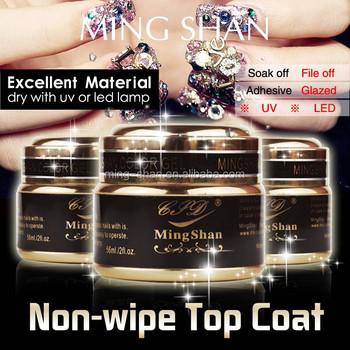 Non-wipe Uv Top Coat Uv Color Gel Cover Acrylic Nails Art - Buy Top ...