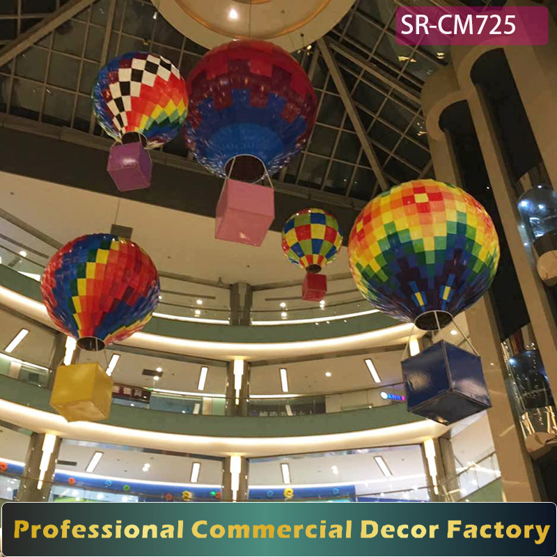 Custom commercial 1m 2m 3m large atrium foldable hanging air Balloon decoration for shopping mall spring summer decoration