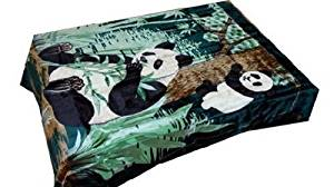 Vivalon Green Panda (BM146) Thick Mink Korean Style Plush King Size Blanket - By Solaron