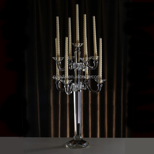 High quality 9 arm crystal glass candelabra home decoration wedding Metal candelabra