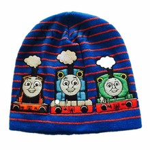 Thomas embroidered knitted cap Children Hat Lovely Cartoon knitted beanie hat wholesale price
