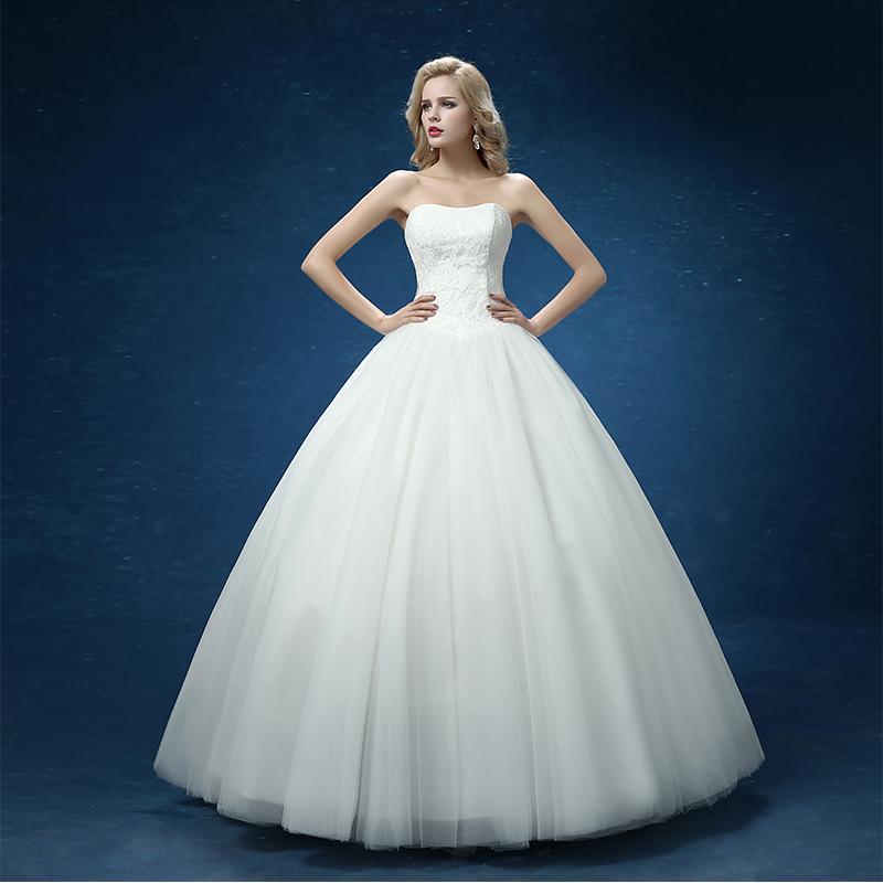 Custom Made Wedding Dresses 2015 Cheap Celebrity Strapless