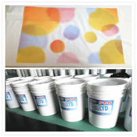 machine screen printing water based ink rubber paste for t-shirt textile