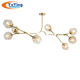 2018 New Nordic LOFT molecular Modern Molecule Metal Plating Glass Aluminum Northern Europe Style Pendent Dinning Lamp Bar Light