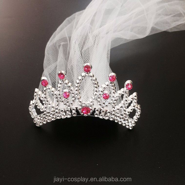 Hen Night Party Supplies White Bride to Be Tiara with Veil