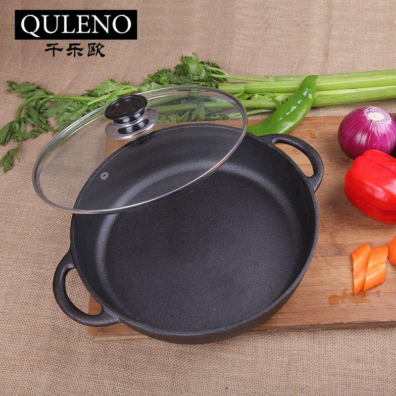 vintage wok wok wok prime orecchie fatti a mano spessore ghisa pentola antiaderente pan pot non patinata