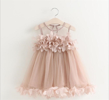 JL17008 New Model Kid Clothes 2 years Old Baby Summer Flower Girl Dress
