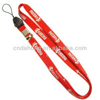 custom Silk screen metal hook nylon lanyards with logo