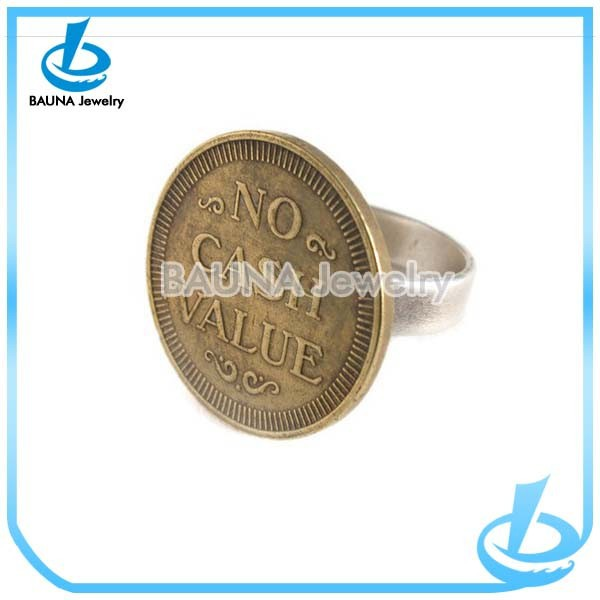 High Quality Fashion Shape Cool For Men Best Selling Jewelry Coin Rings