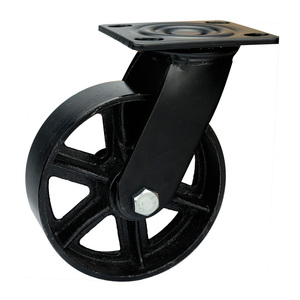 "Perfect quality 8"" BLACK vintage iron caster for furniture"