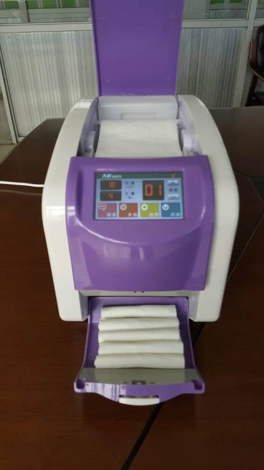 NEW touch screen LCD wet towel machine