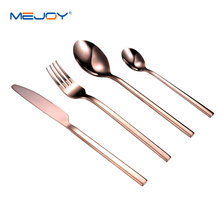 Brass flatware set stainless steel gold plated cutlery set 4pcs