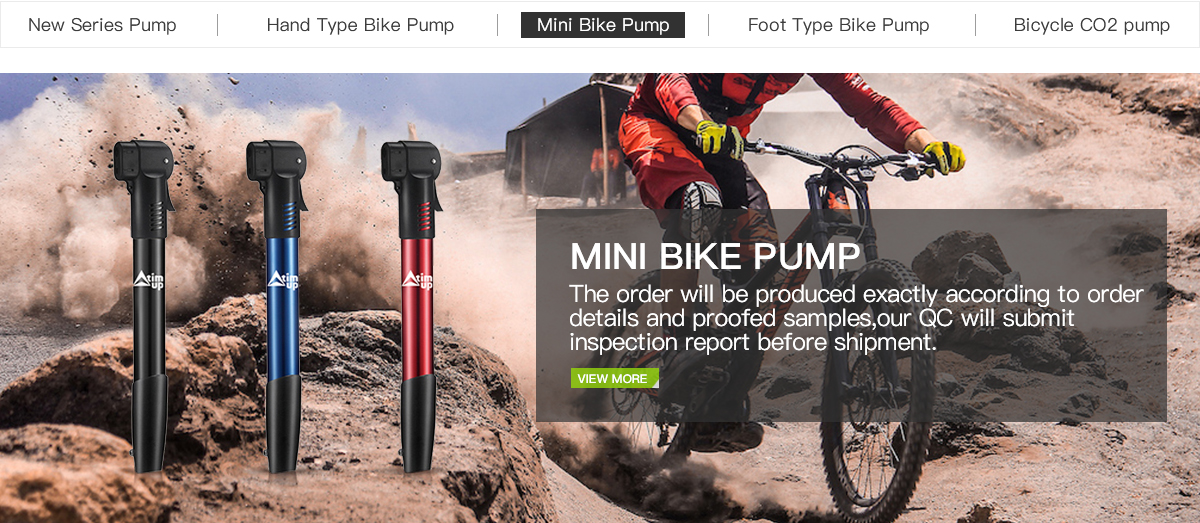 portable bike pump bicycle air pump mountain bike cycling tire inflator TCAO