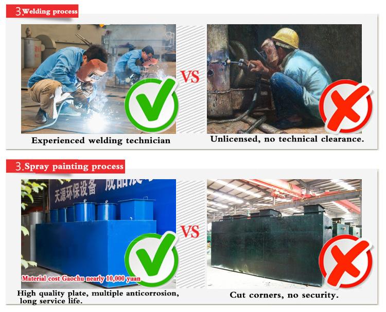 Завод прямой очистки сточных вод оборудования, Tianyuan интегрированный очиститель воды