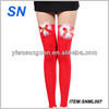 good quality knee high red sexy girls stocking
