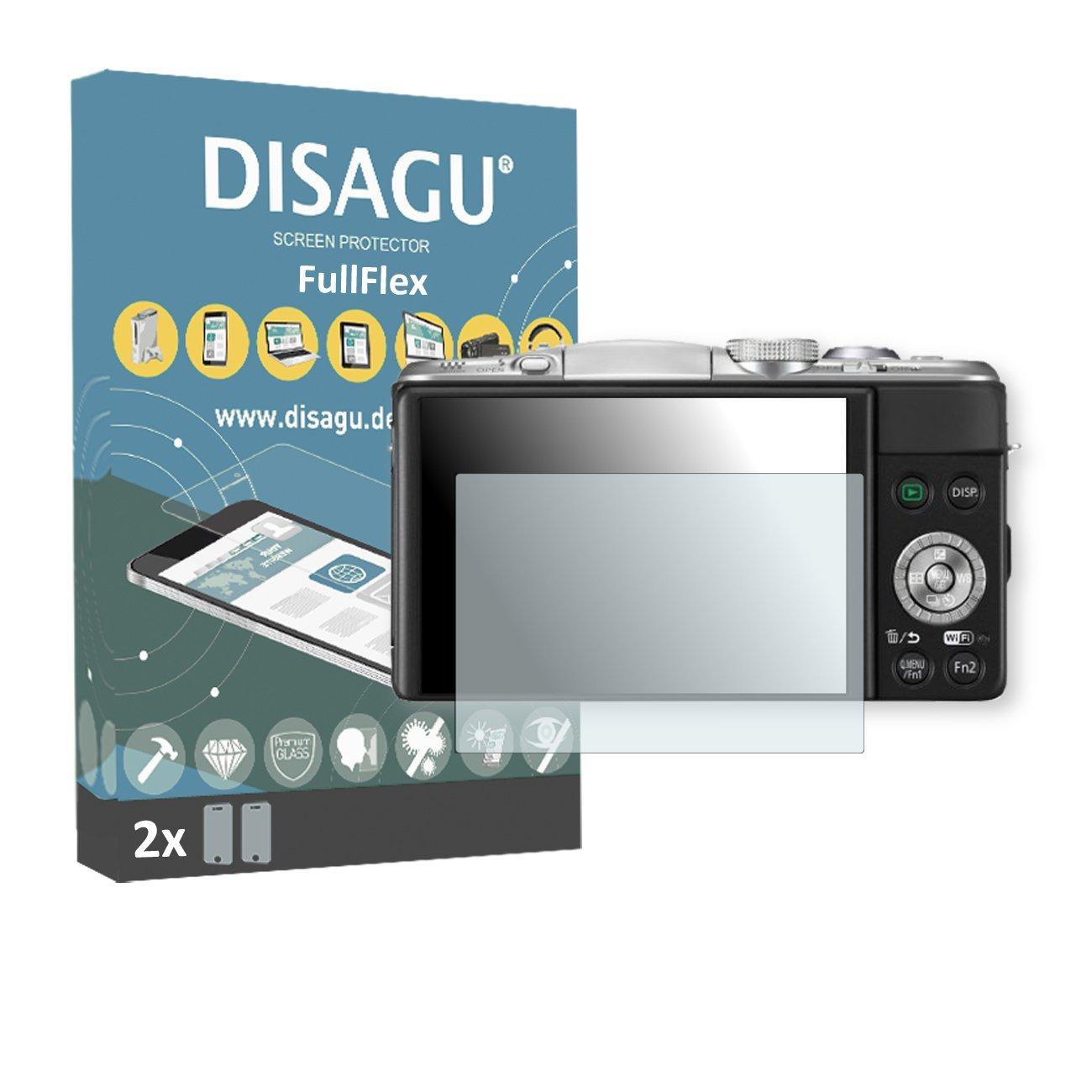 2 x Disagu FullFlex screen protector for Panasonic Lumix DMC-GF6K foil screen protector