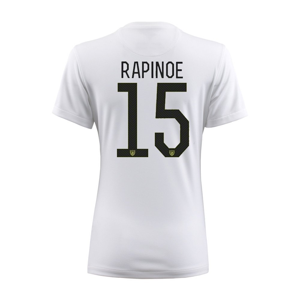 Megan Rapinoe #15 White 3 Star World Cup Soccer 2015 USA Women's Home Jersey White #15, Womens Jersey (Medium)