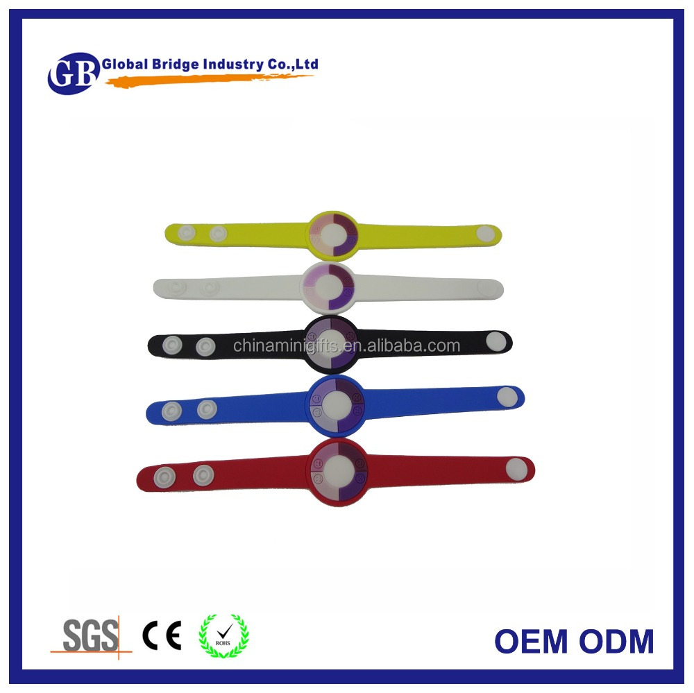custom color change Sun detector UV tester bracelet cheap silicone wristbands