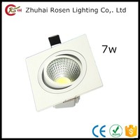 high quality dimmable aluminum alloy warm white 7 watt square led ceiling light