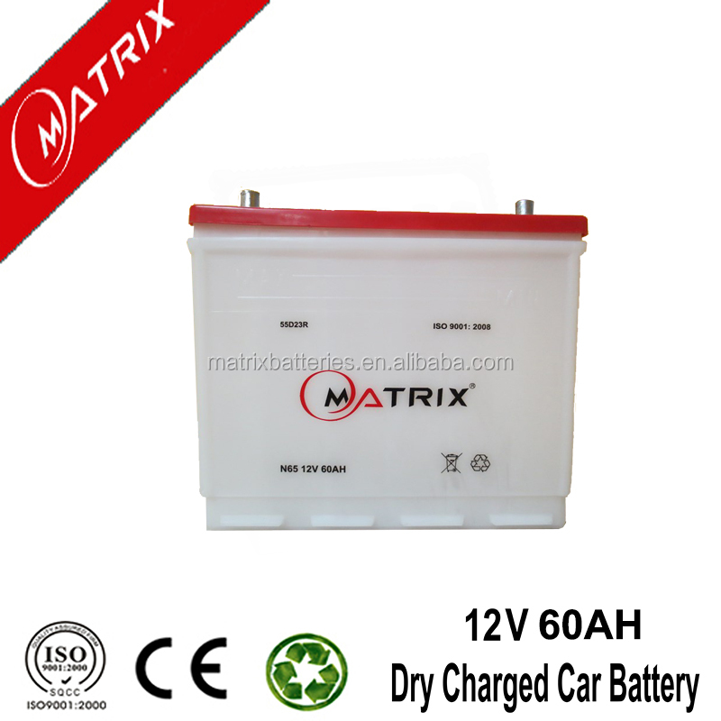 Hot sale Germany quality Japanese Standard automotive battery Dry charged 55D26R/L 50AH