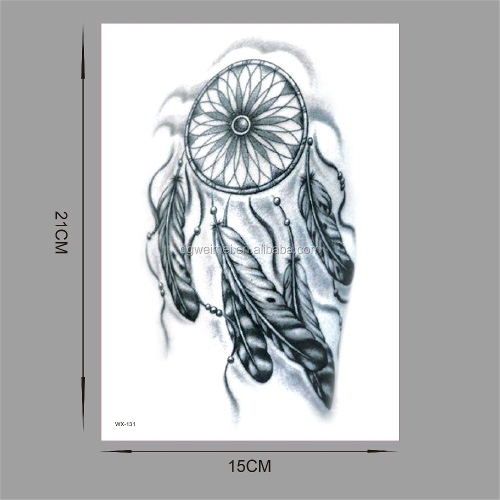 WX-131 2017 New Feather Waterproof Temporary Tattoos Sticker Body Arts flash tattoo Sexy Product Beauty dreamcatcher Makeup Tato