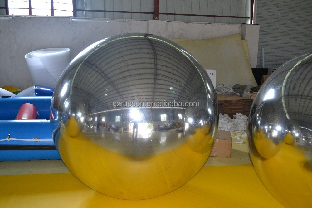 Customized 2 meters inflatable mirror ball for outdoor activities decoration