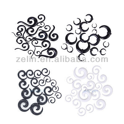 2014 fashion Spiral Horn Question EAR STRETCHING KIT-00G-14G Flesh Tunnel STRETCHER TAPER SET piercing jewelry