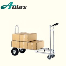 AULAX shopping dolly for airport with rubber trolley wheel