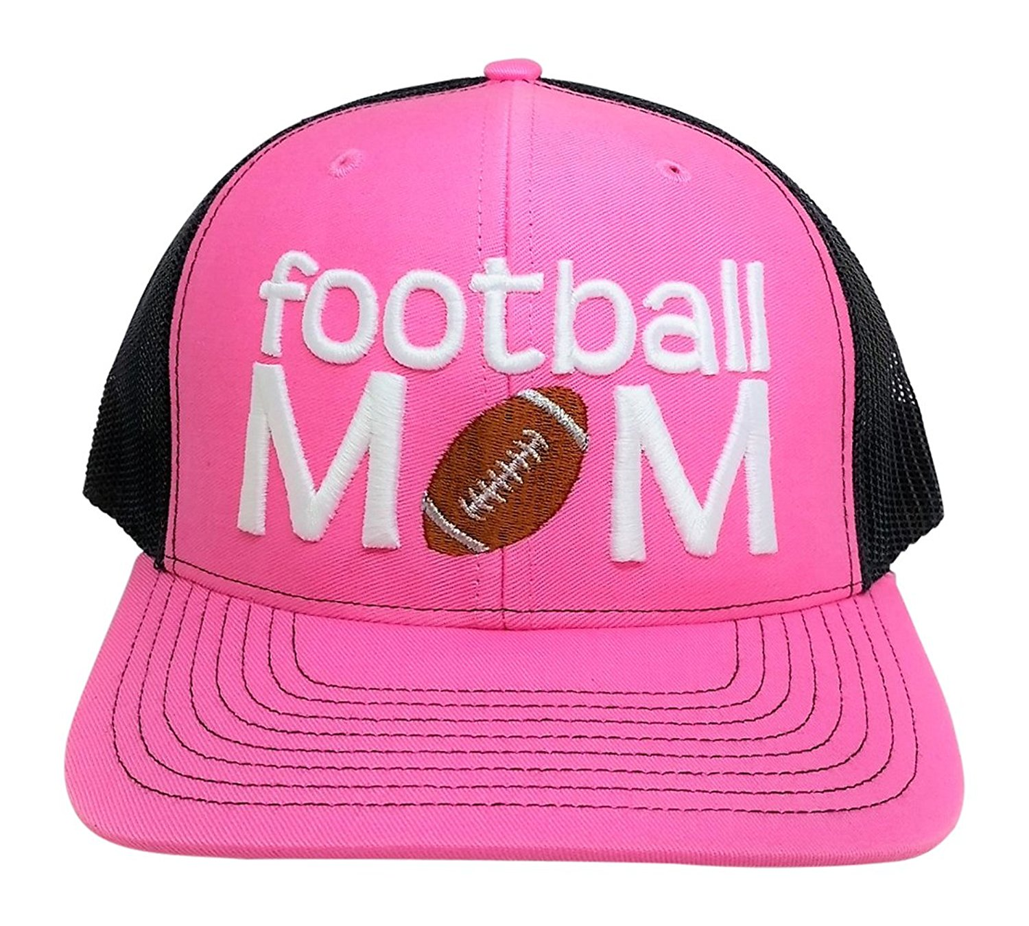 95c6da1e Get Quotations · Loaded Lids Women's Football Mom Puff Embroidered Bling  Trucker Cap