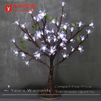 Mini Battery Artificial Trees Lighted Up Cherry Blossom Table Decoration